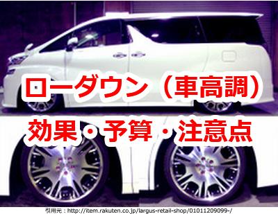 アルファード30系 車高調・ローダウンの効果・予算・注意点